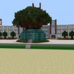 【バトルガール】一周年記念にマインクラフトで神樹ヶ峰女学園の校舎を再現したプレイヤーが凄すぎる。恐るべき再現度だな……!!